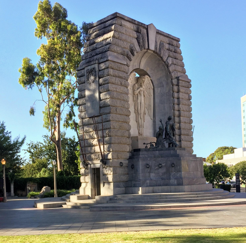 national war memorial in North Terrace, Adelaide CBD