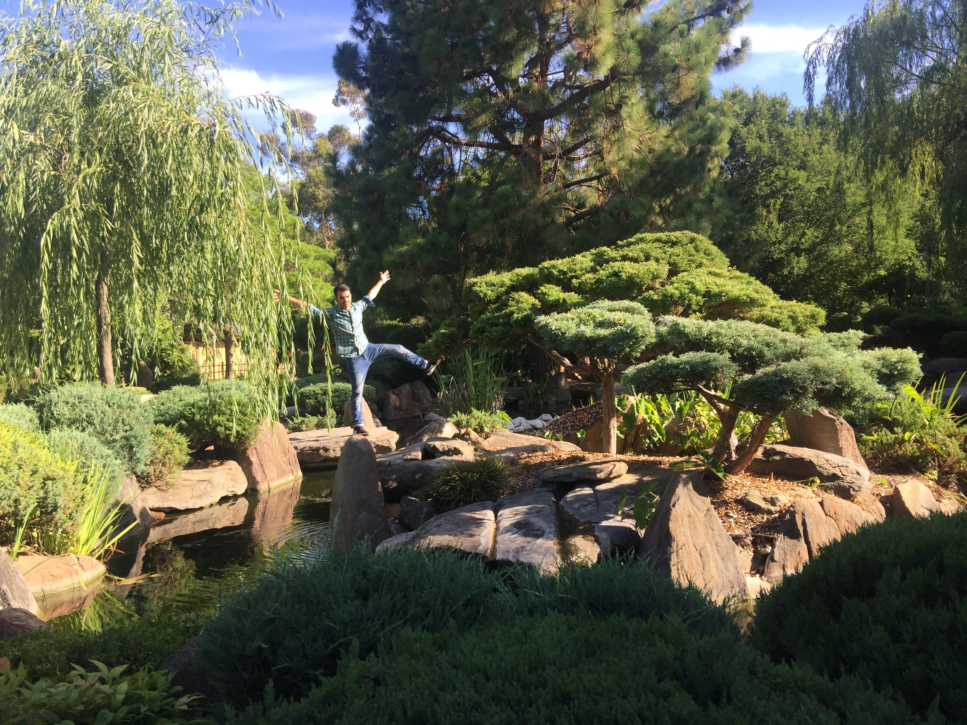 posing in Adelaide Himeji Garden