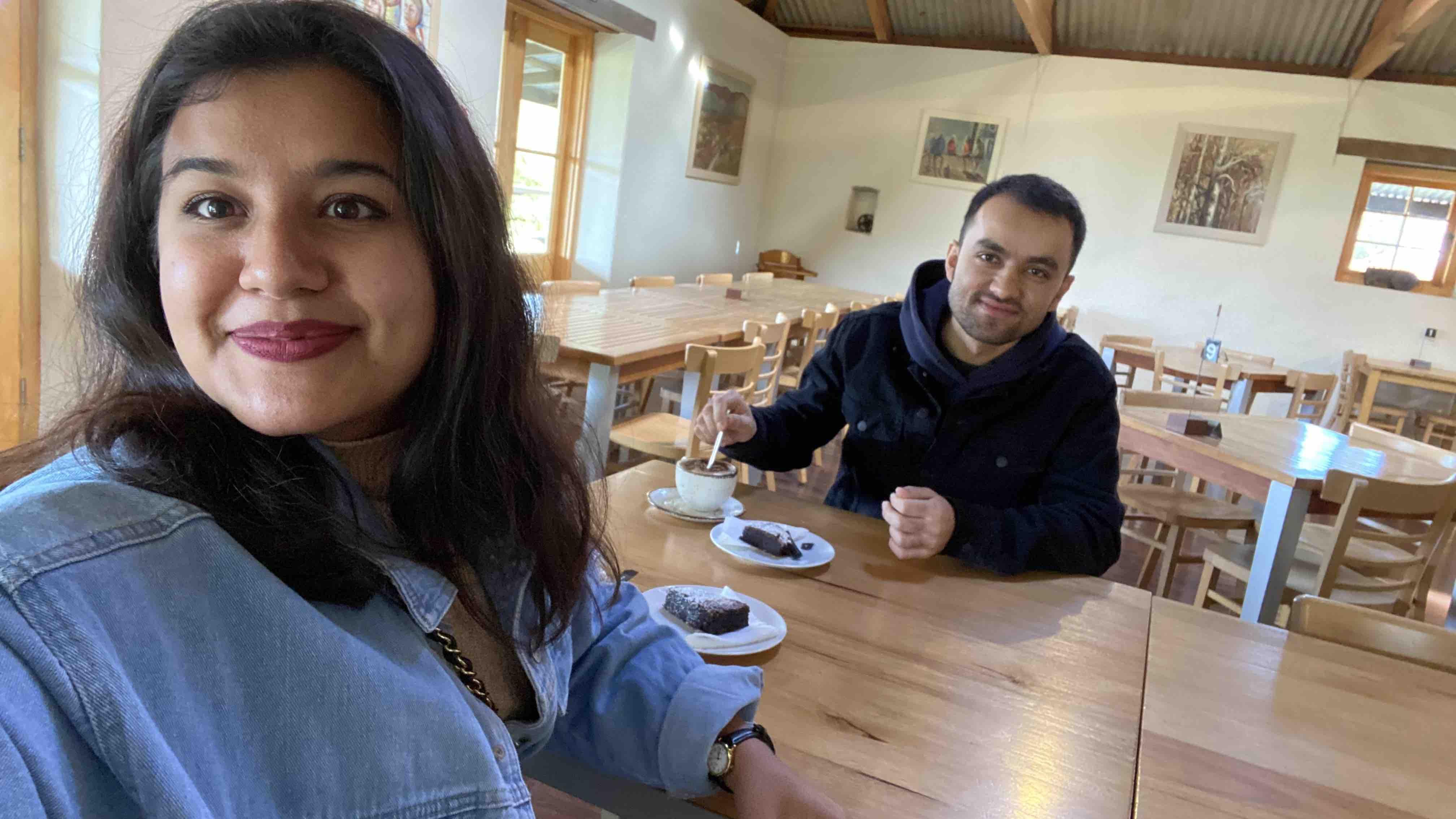 morning tea at pindarie, barossa