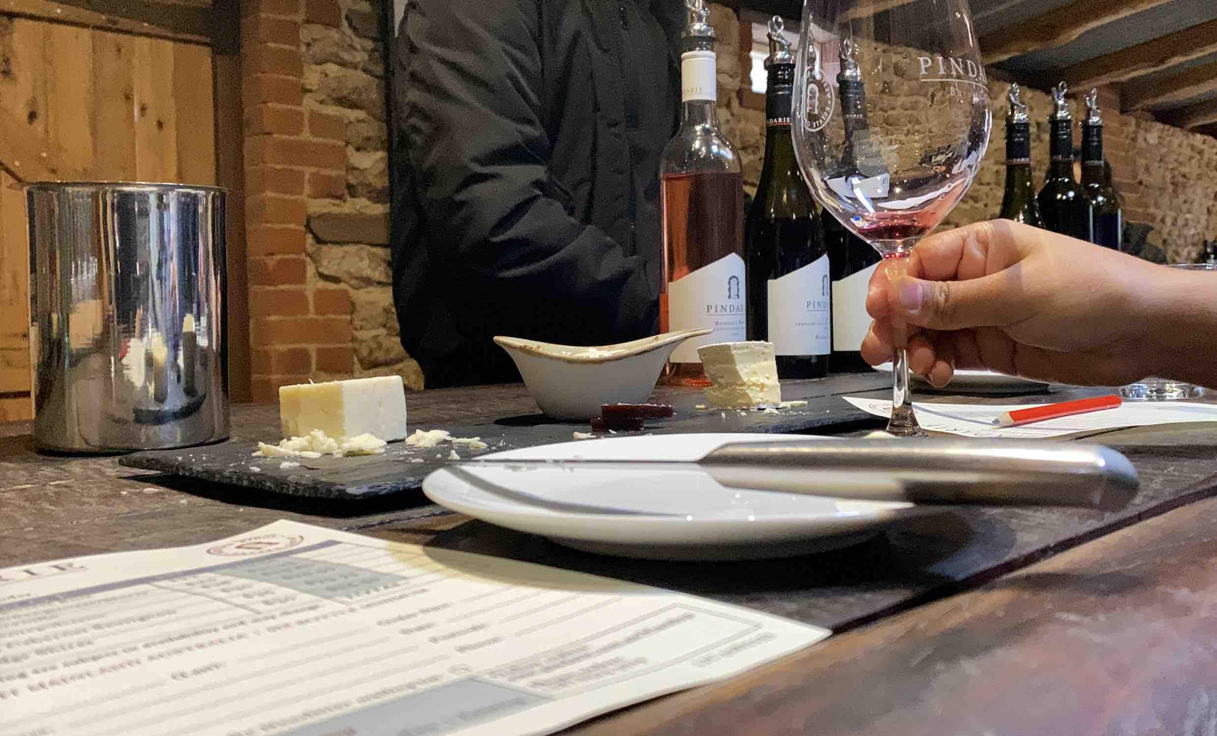 wine tasting at Pindarie winery