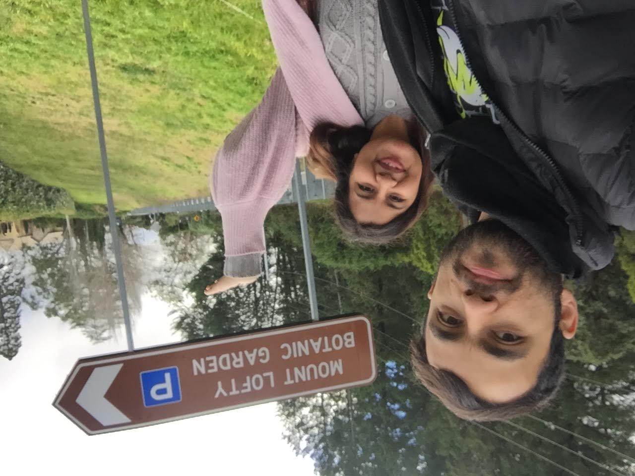 Sonisha and lakshman at Mount Lofty Botanic Garden entry